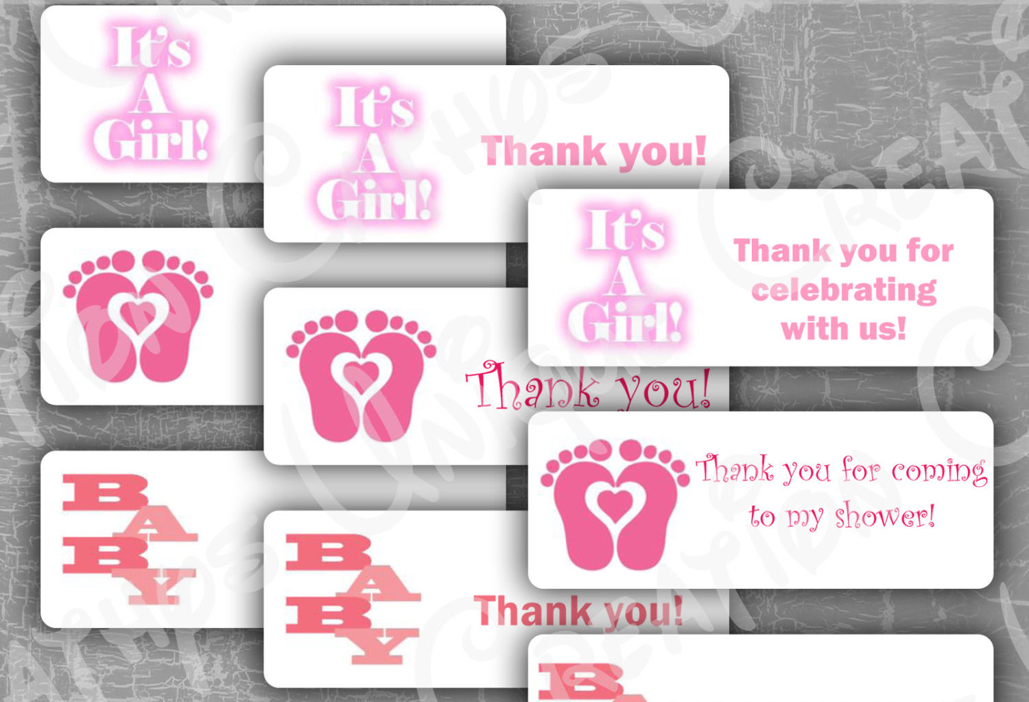 baby shower thank you label