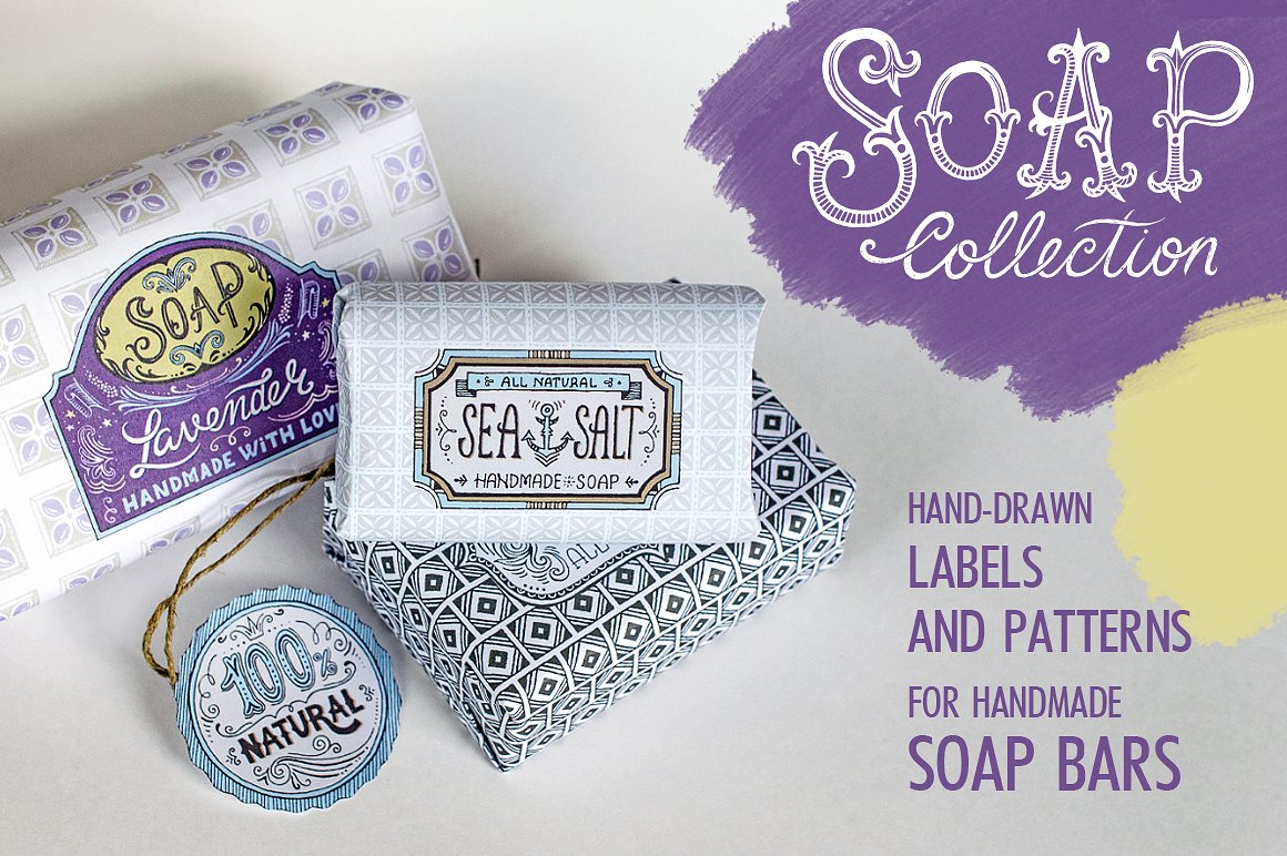 bar soap label pattern