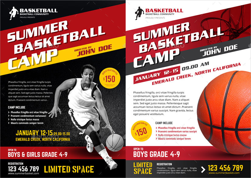 12  summer camp flyer designs
