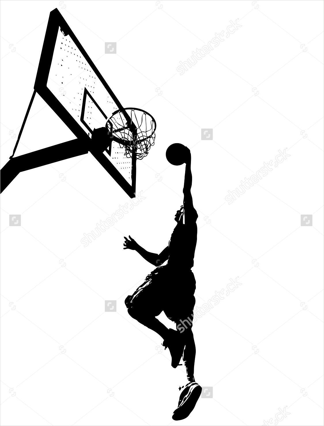 basketball wall silhouette