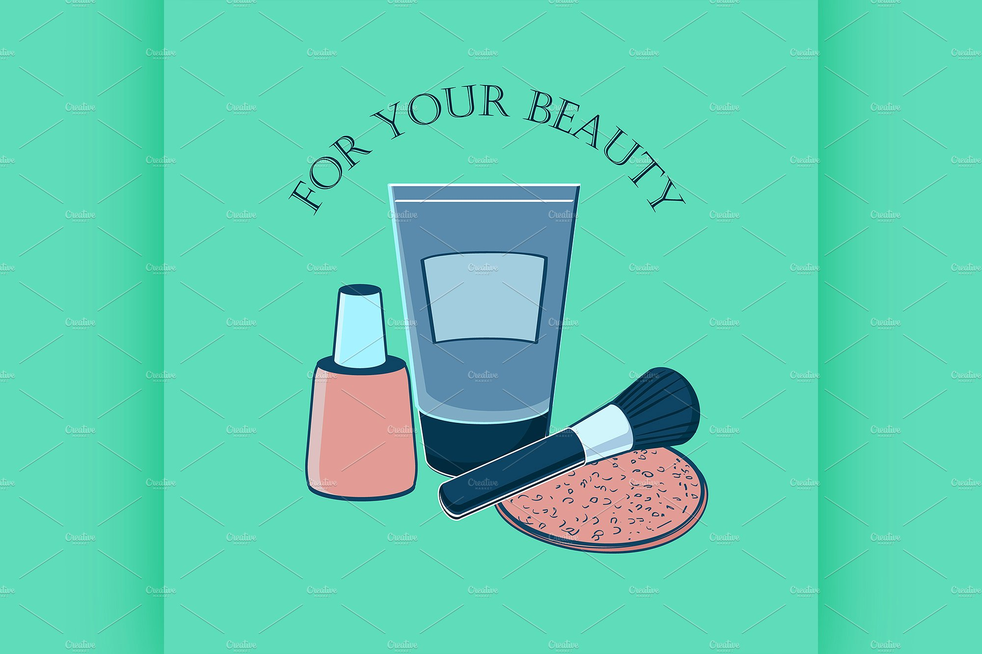 beauty cosmetic label