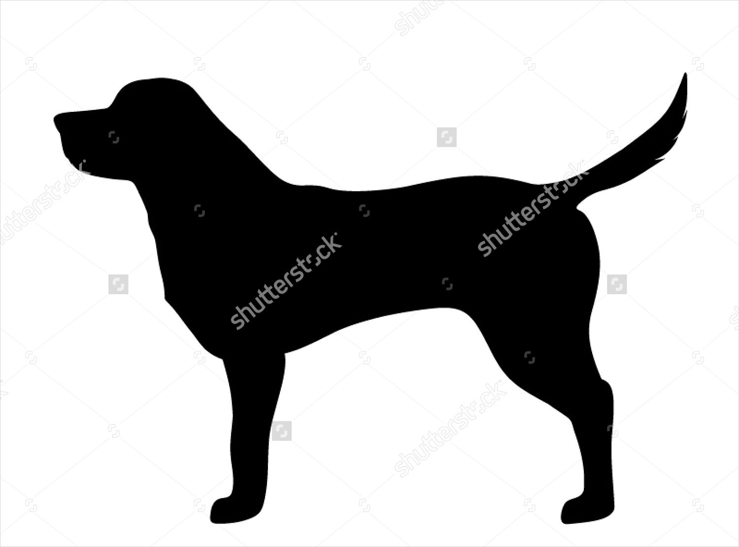 Black Lab Silhouette