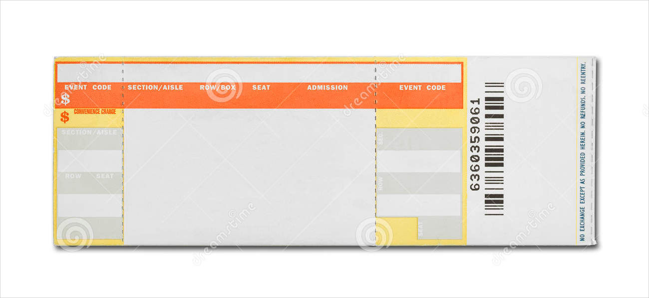 15 concert ticket templates design trends premium psd for Sports ticket template free download