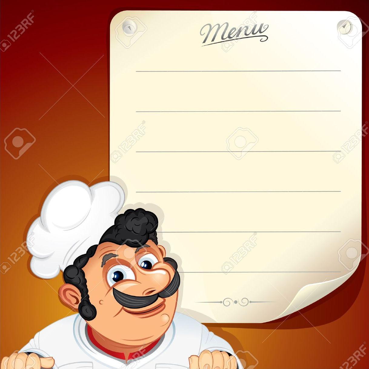 blank menu vector