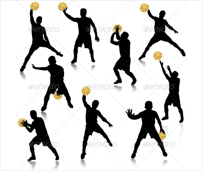 boy basketball silhouette