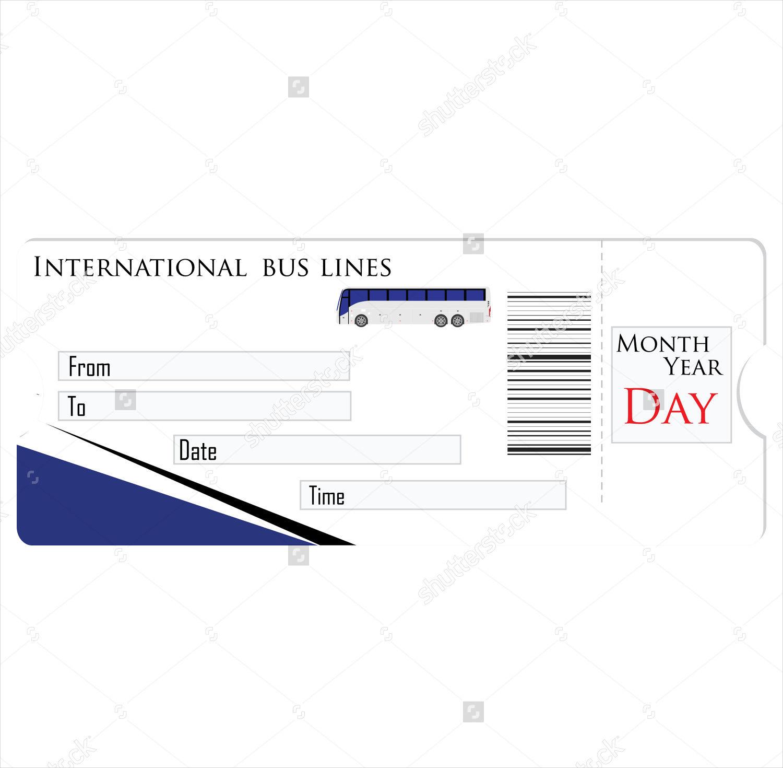 Bus Travel Ticket