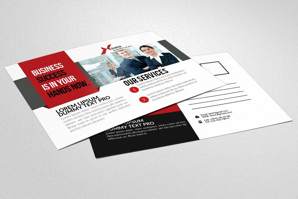business finance company postcard1