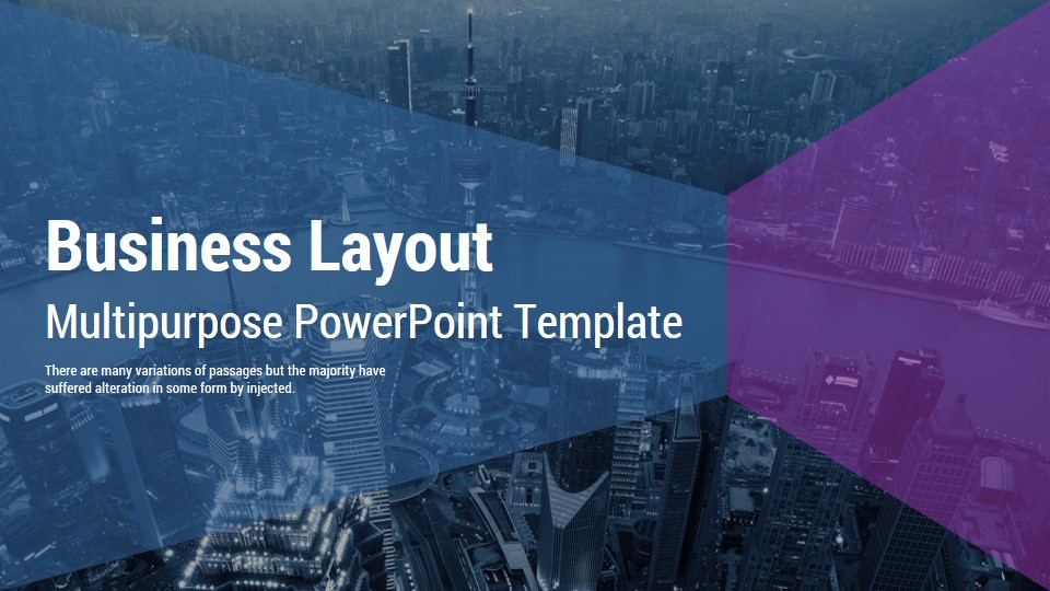 business layout ppt template
