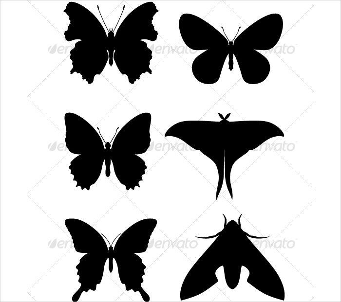 Butterfly Silhouette Pattern