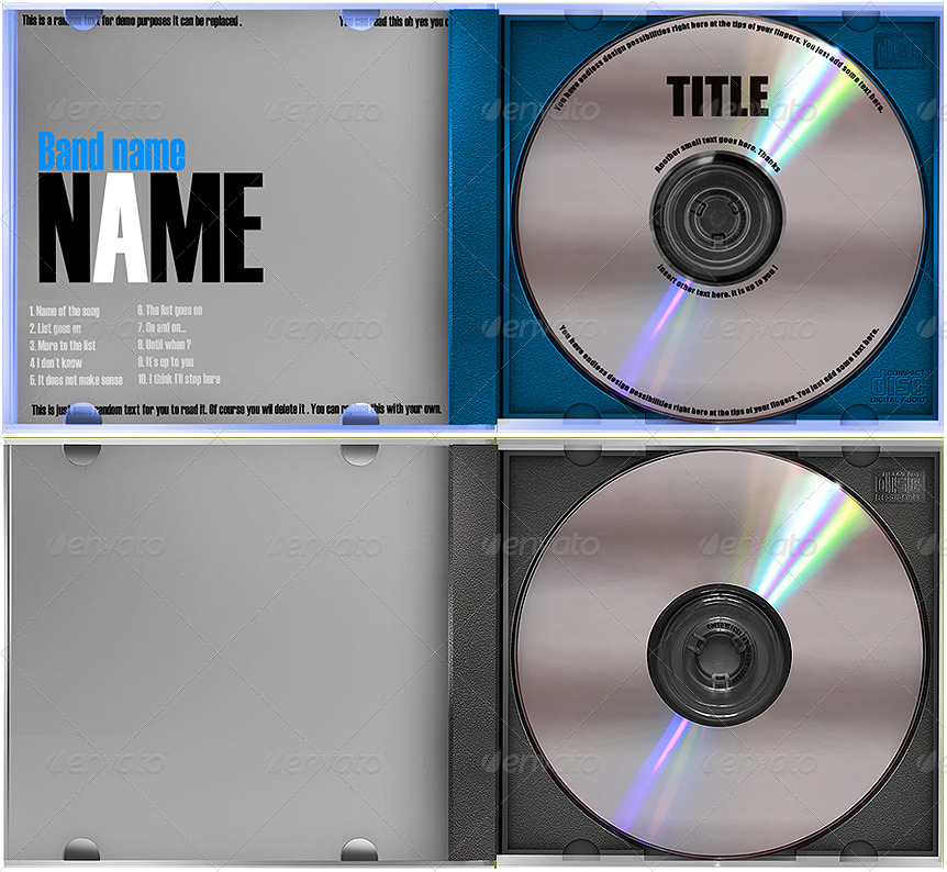 CD Case Label Template