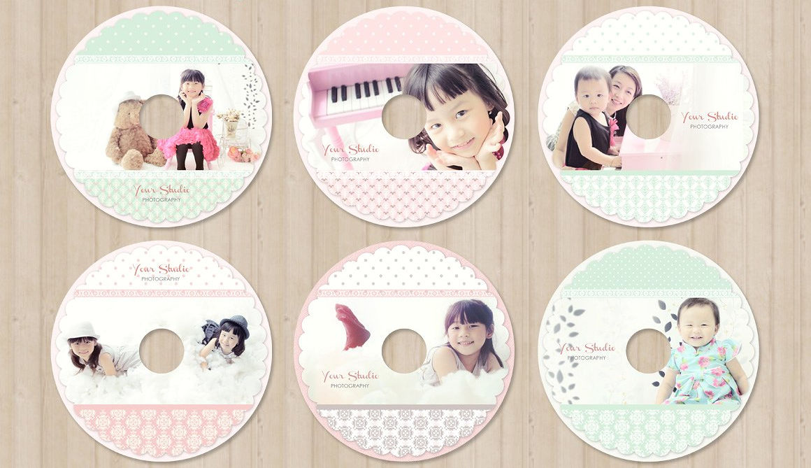 CD / DVD Label Template PSD