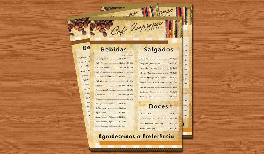 cafe bar menu1