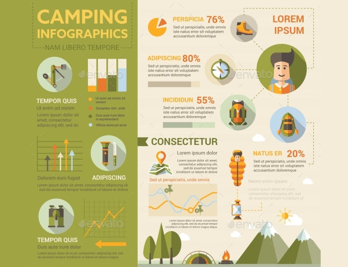 camping poster brochure cover