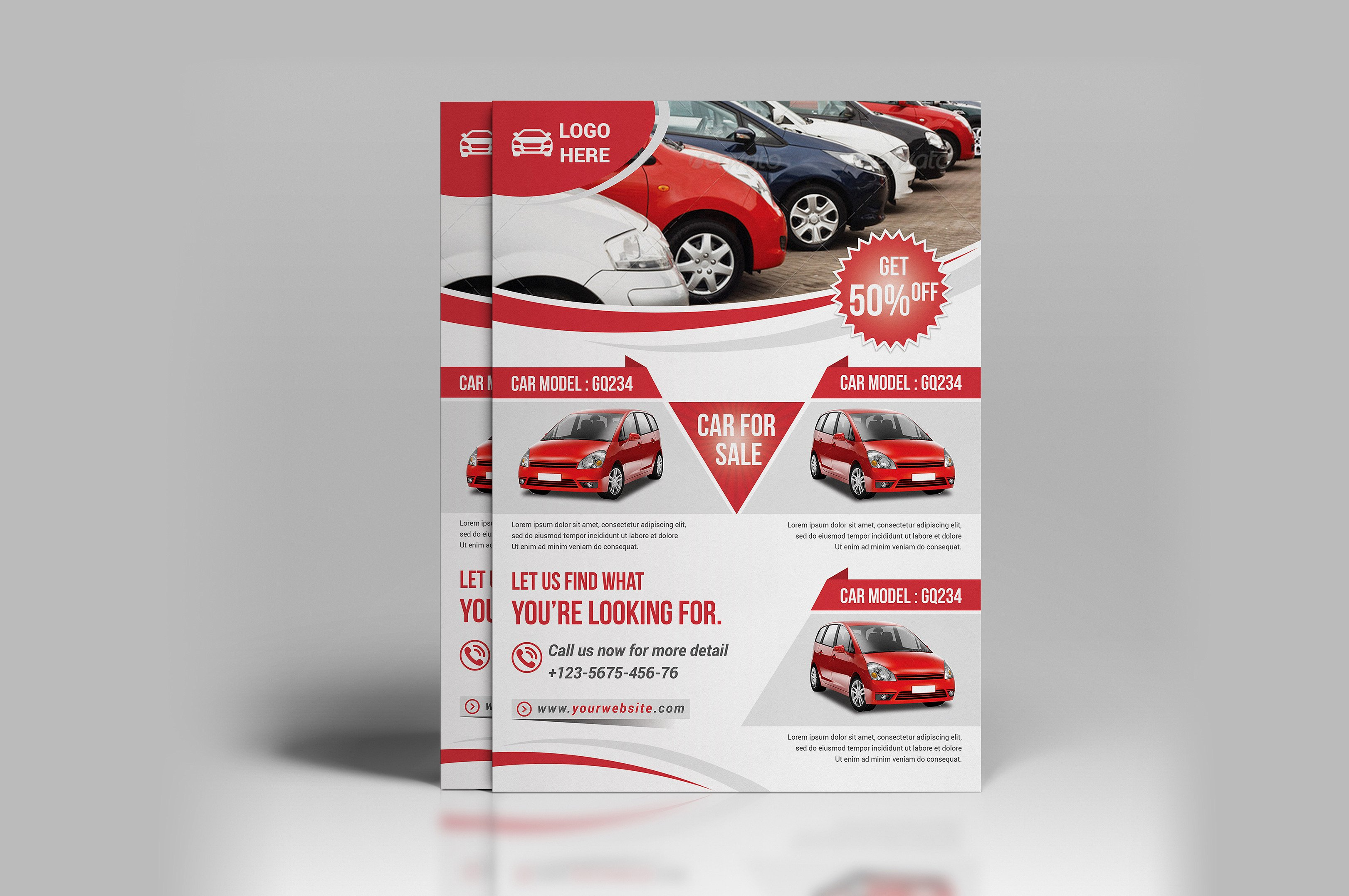 Car Sale Flyer Design