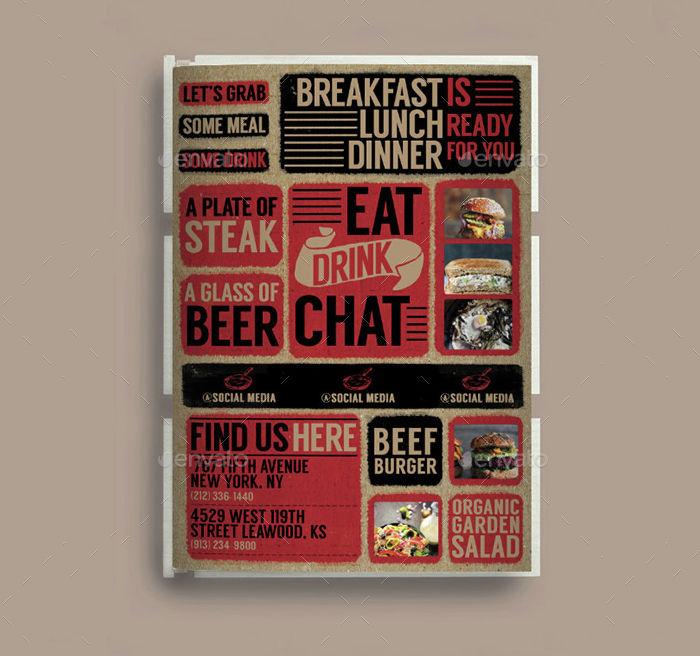 cardboard bifold menu design