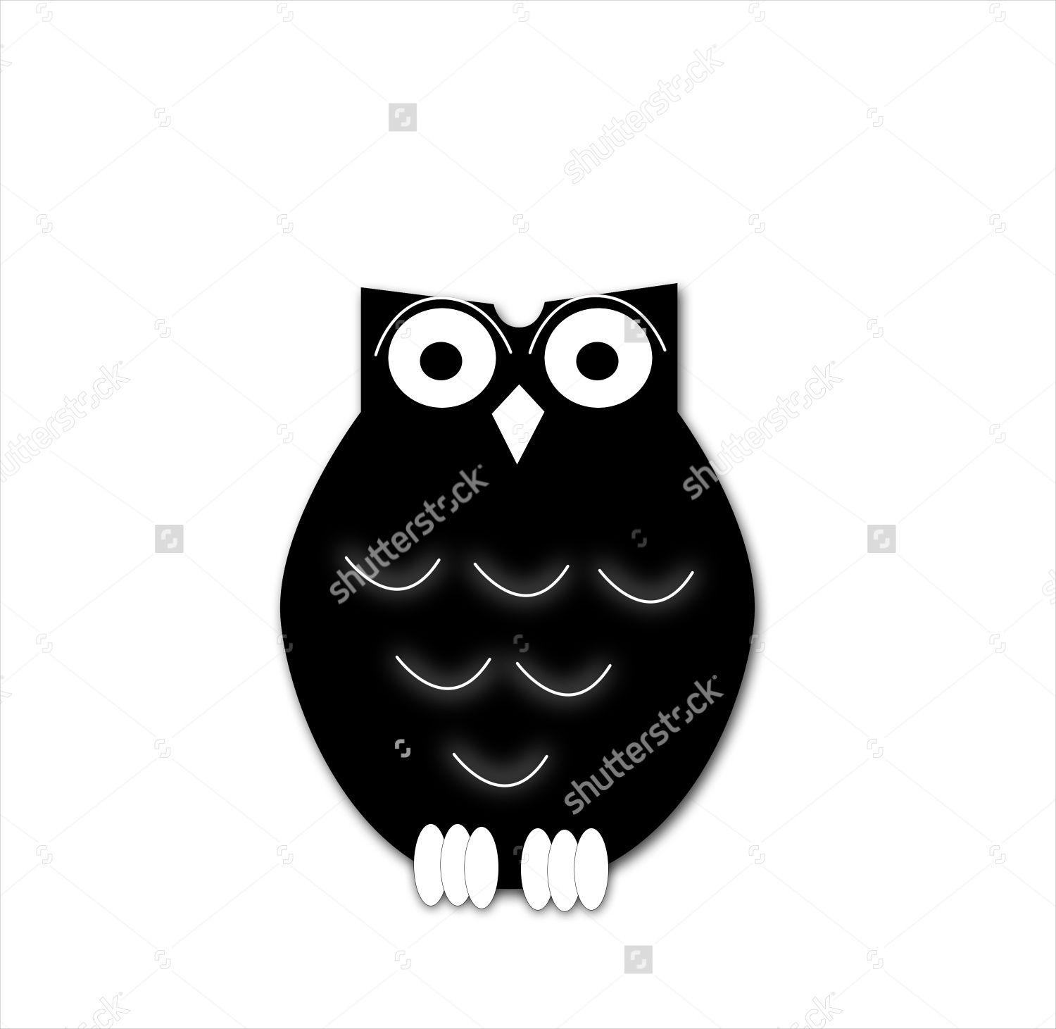 cartoon owl silhouette