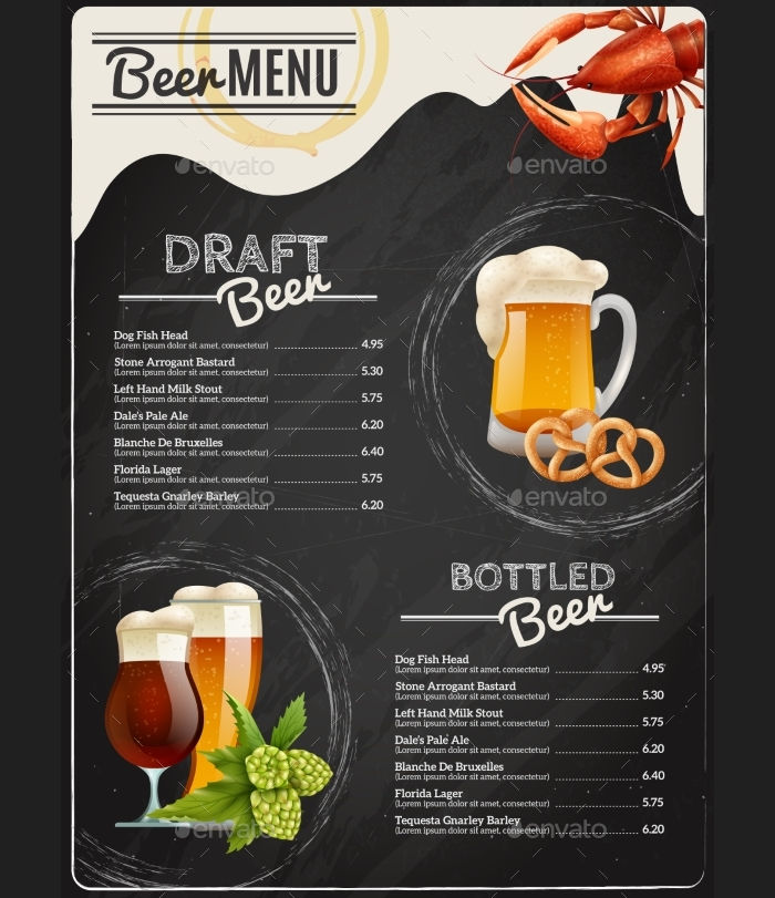 Chalkboard Beer Menu