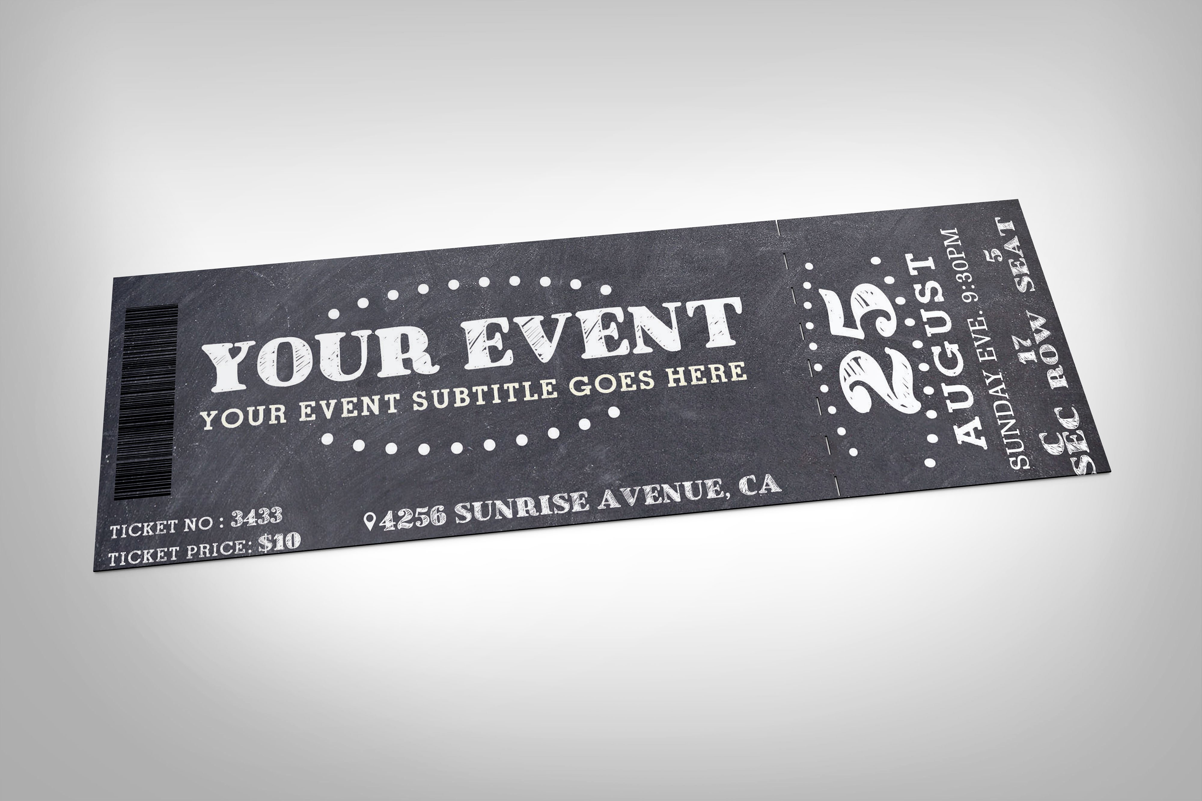 Event Ticket Templates Design Trends Premium PSD Vector - Event ticket template photoshop