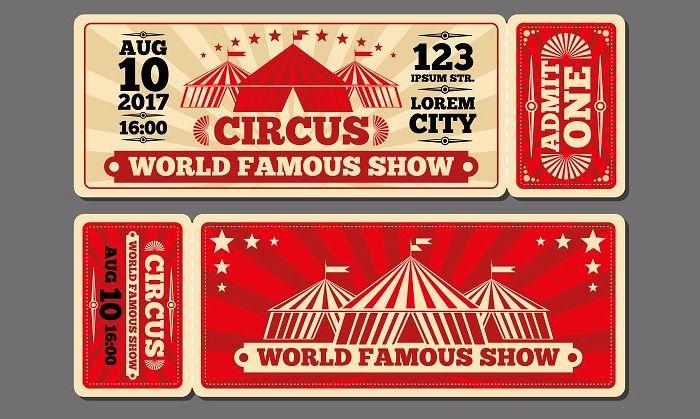 Circus Magic Show Entrance Tickets