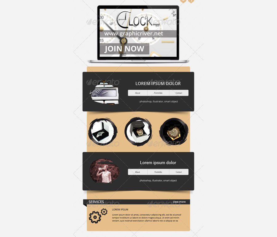 clock email template