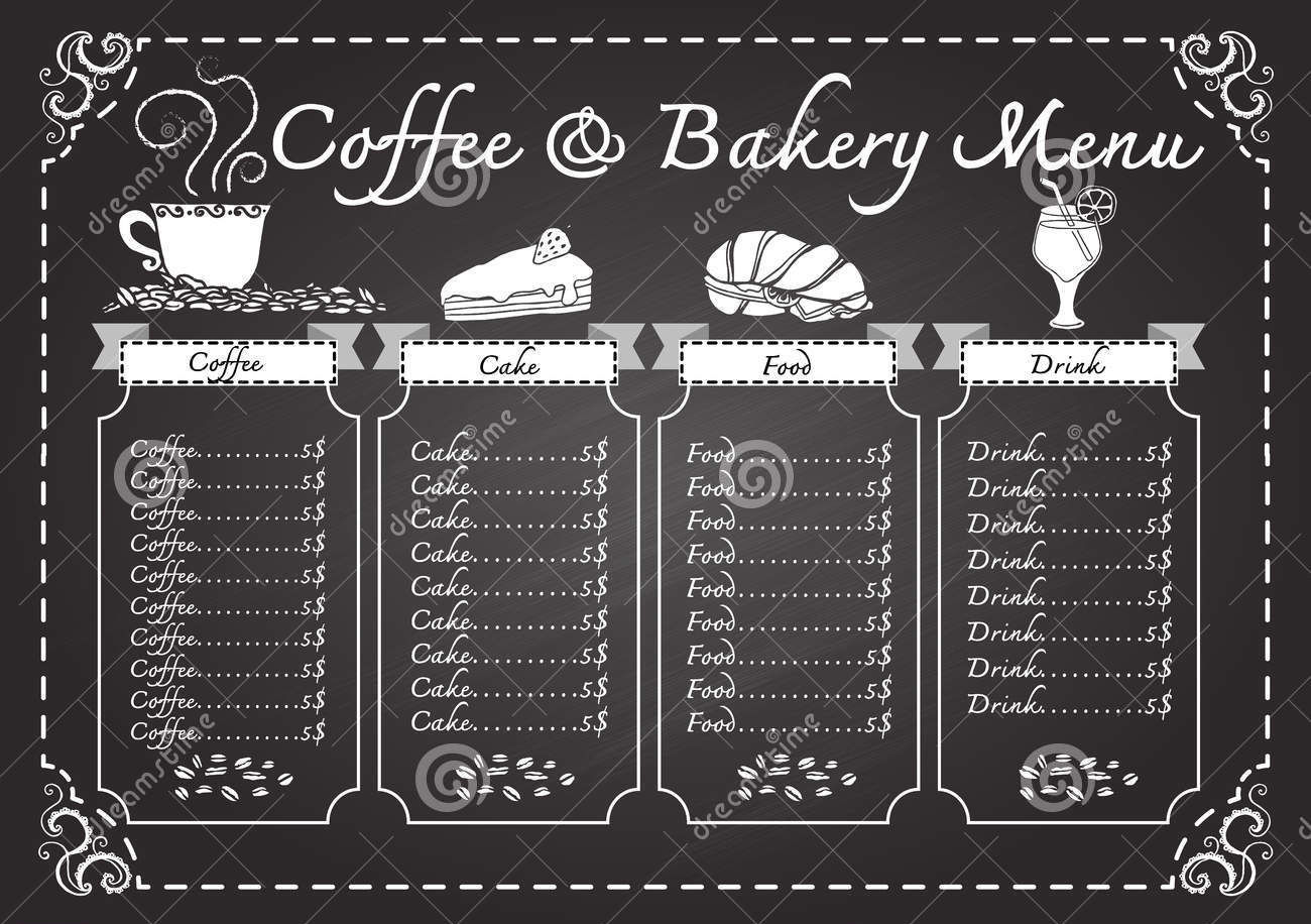 Coffee & Bakery Menu