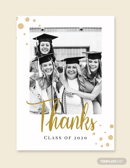 college graduation thank you card template