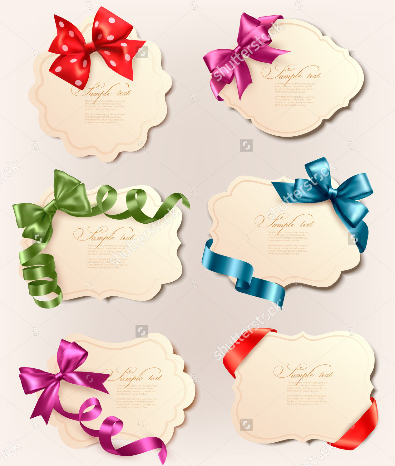 Colorful Gift Bows & Labels