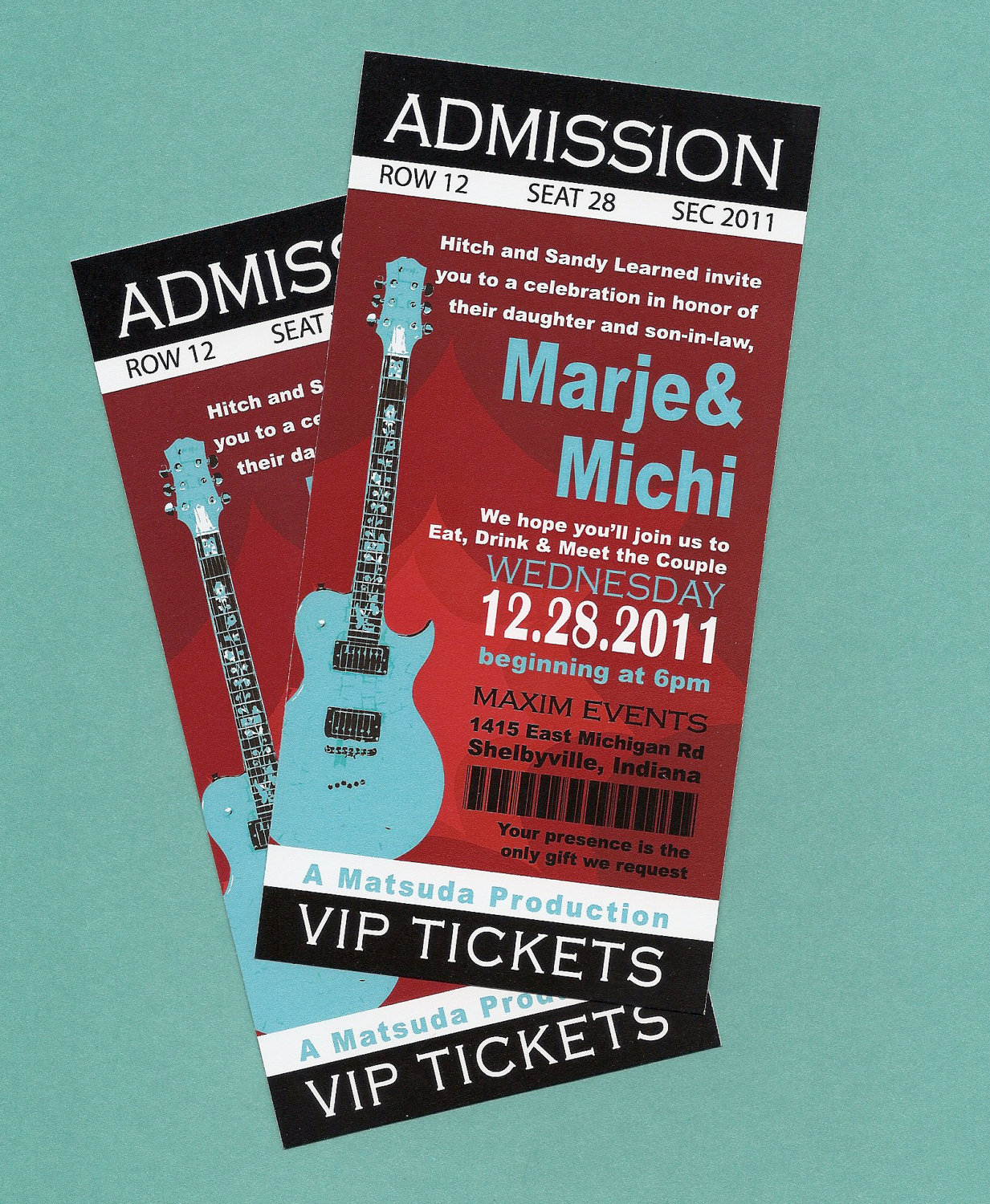 concert ticket invitation