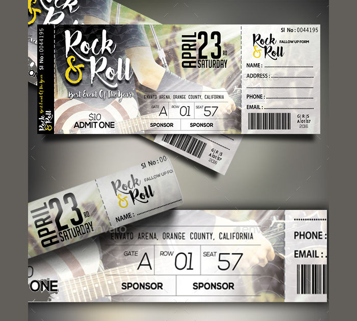 Event Ticket Templates  Design Trends  Premium Psd Vector