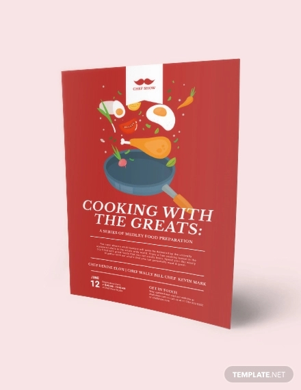 cooking lessons flyer