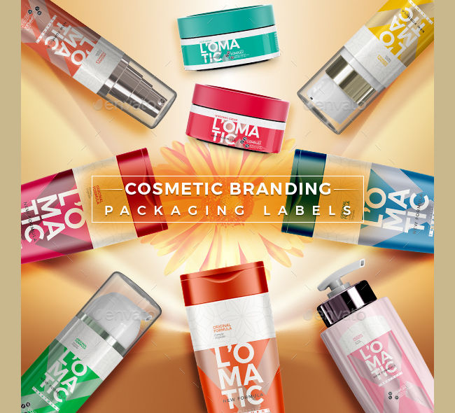 cosmetic branding packaging labels