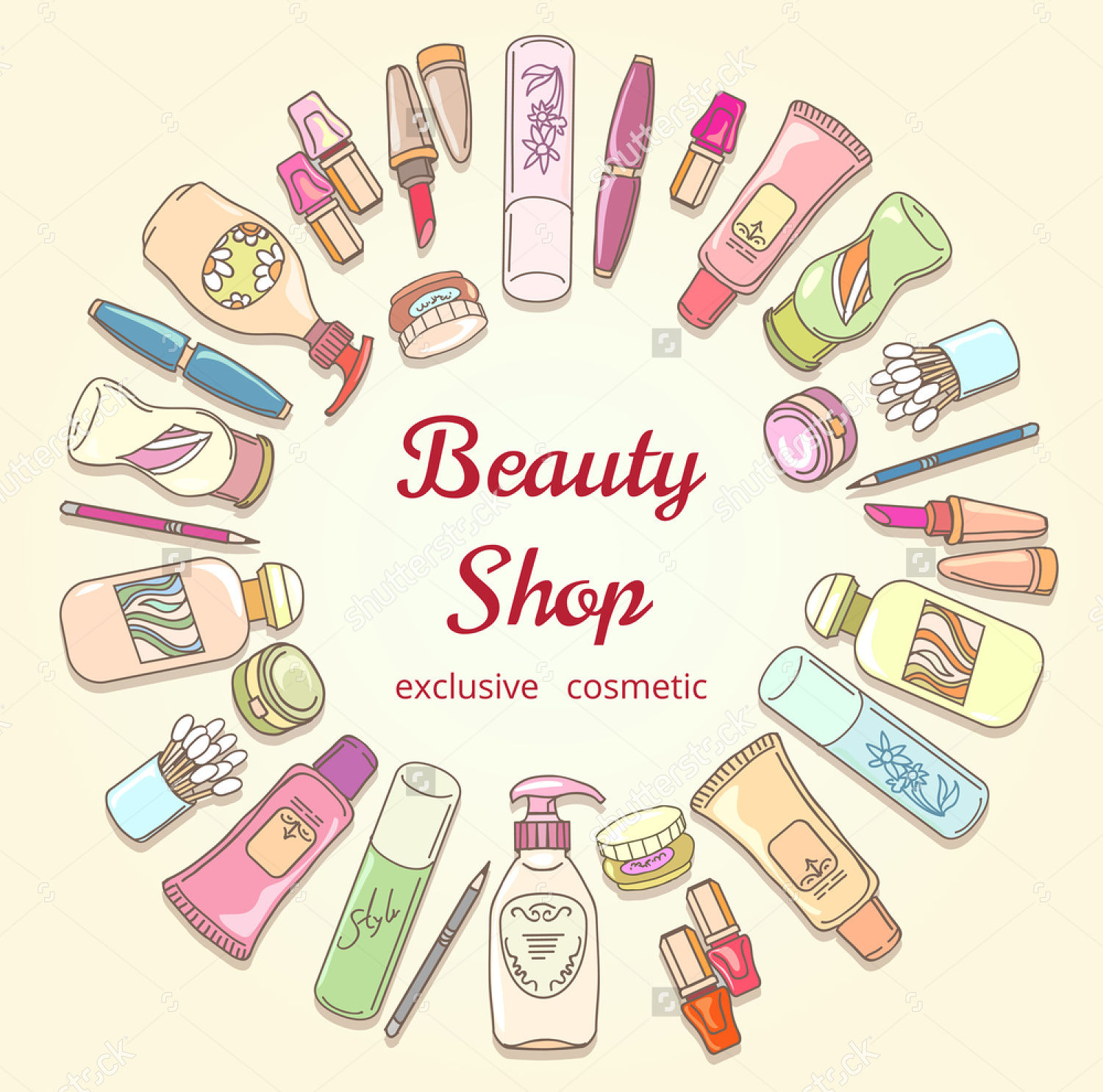 cosmetics label vector