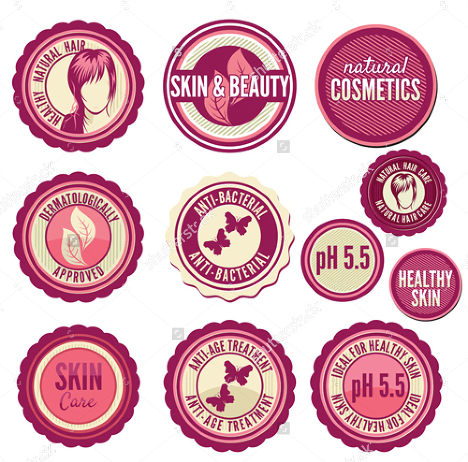 cosmetics labels badges