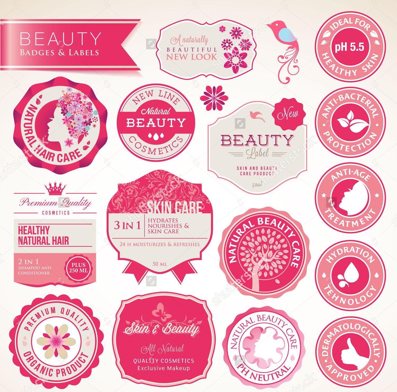 cosmetics round label