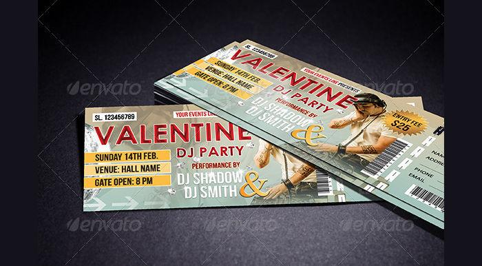 DJ Event Ticket