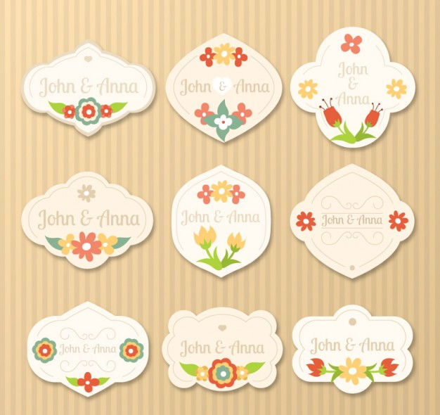 decorative wedding label