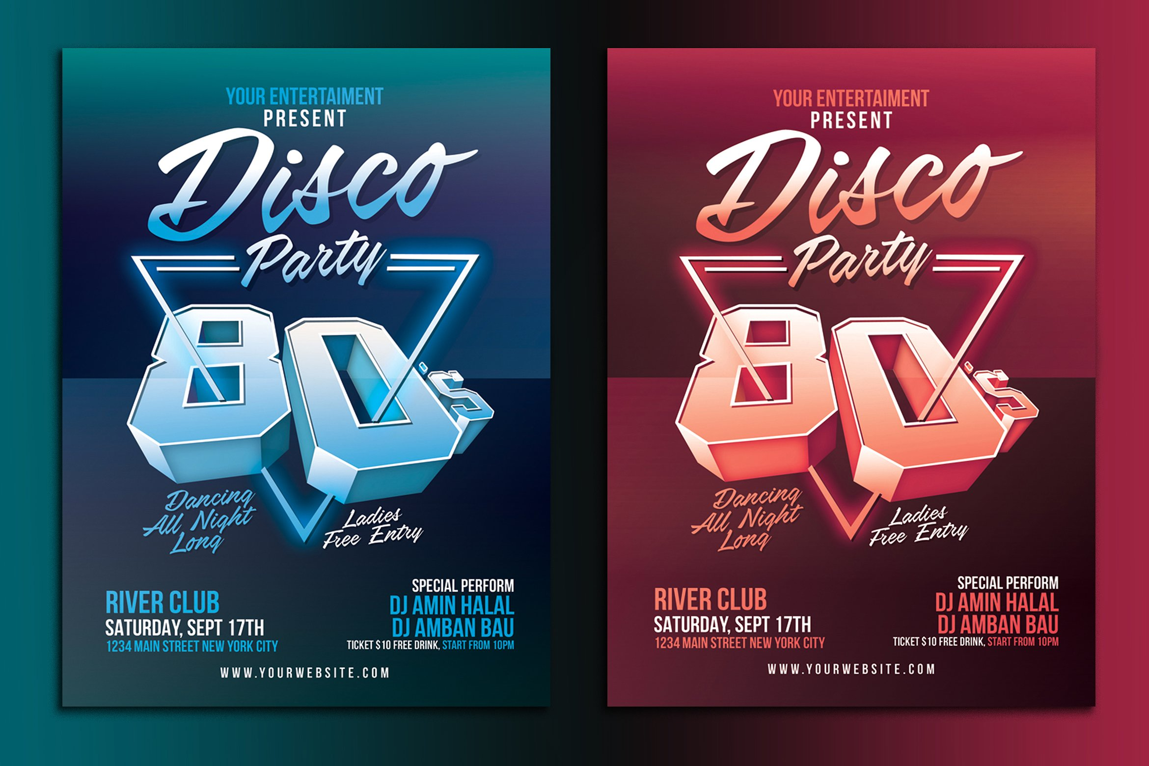 16  disco flyer designs