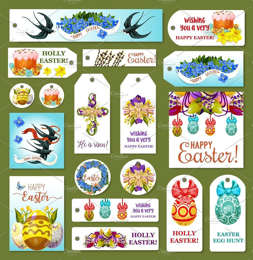 Easter Tags & labels