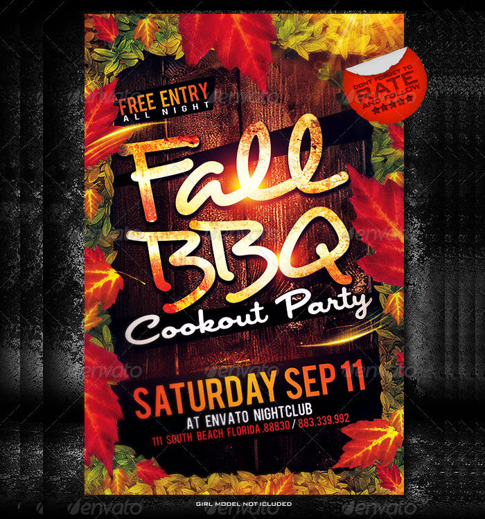 Fall BBQ Flyer Design