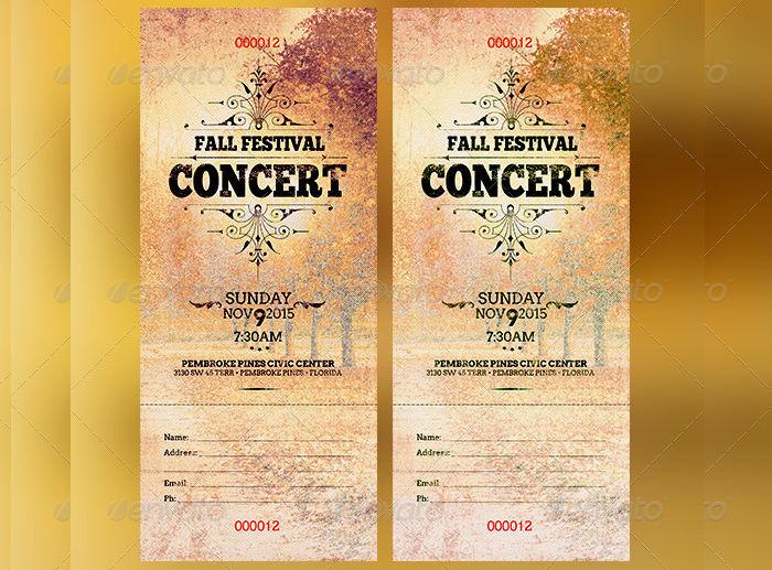 Fall Festival Concert Ticket