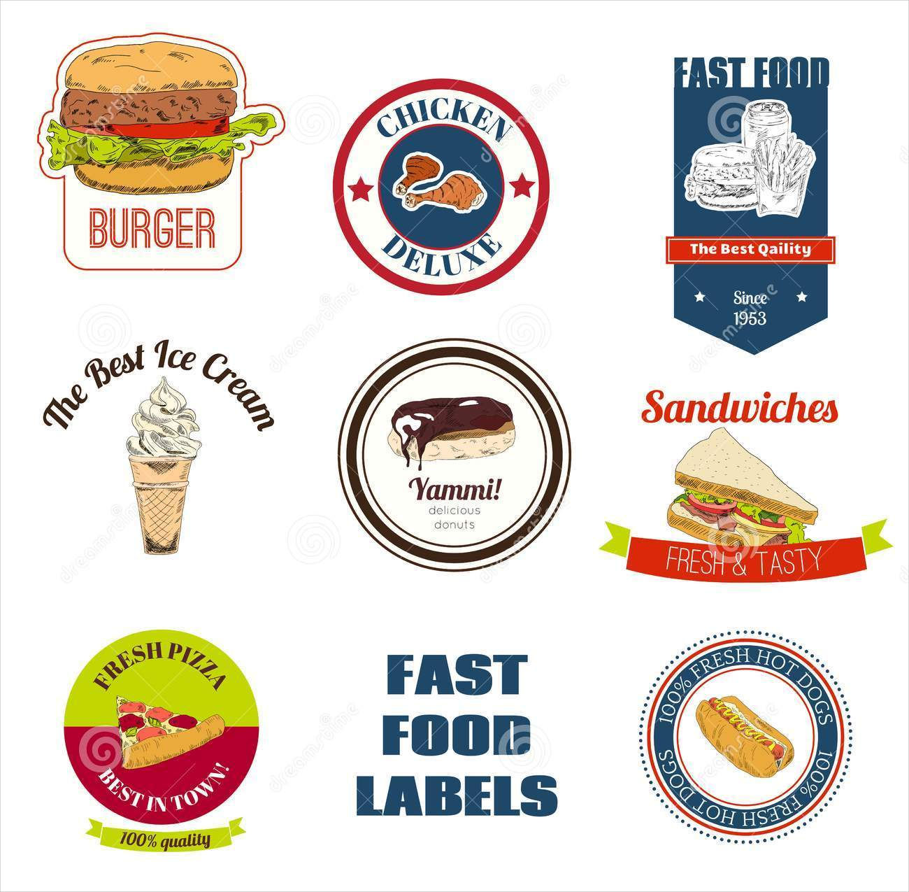 fast food labels