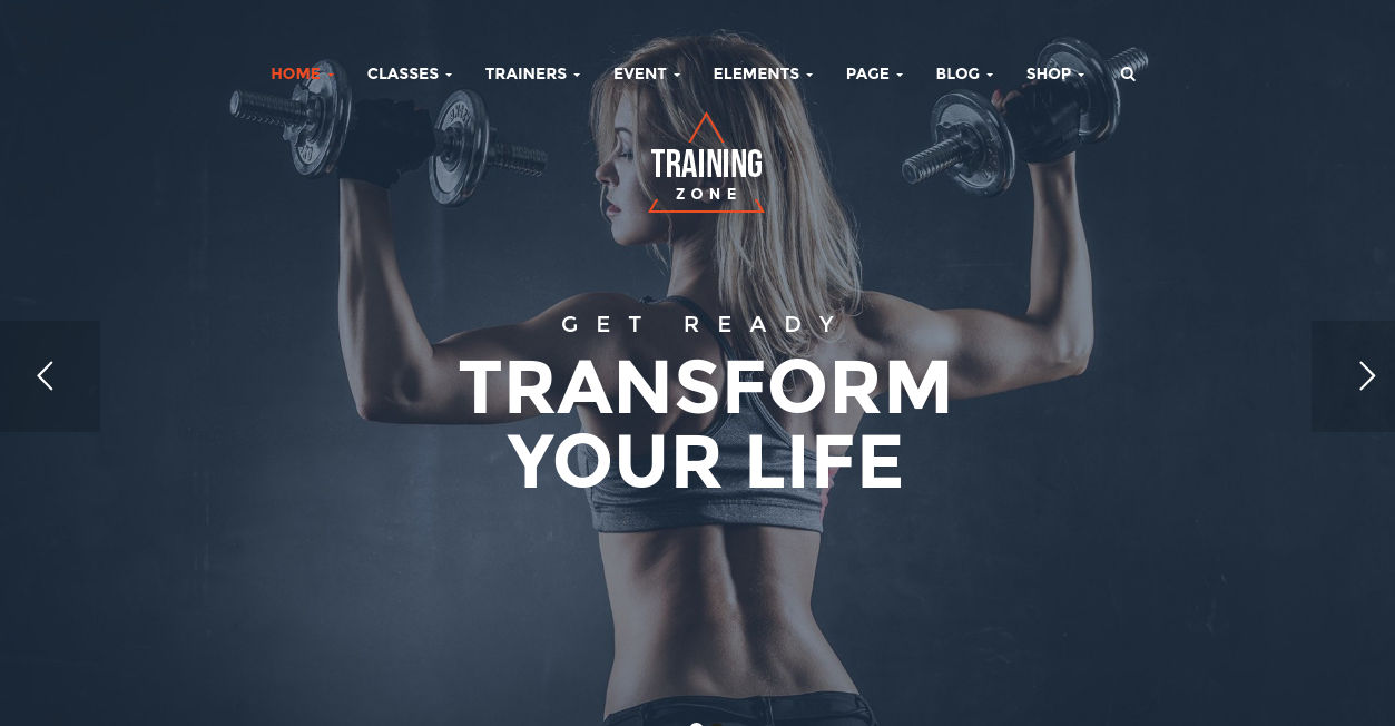 fitness training wordpress