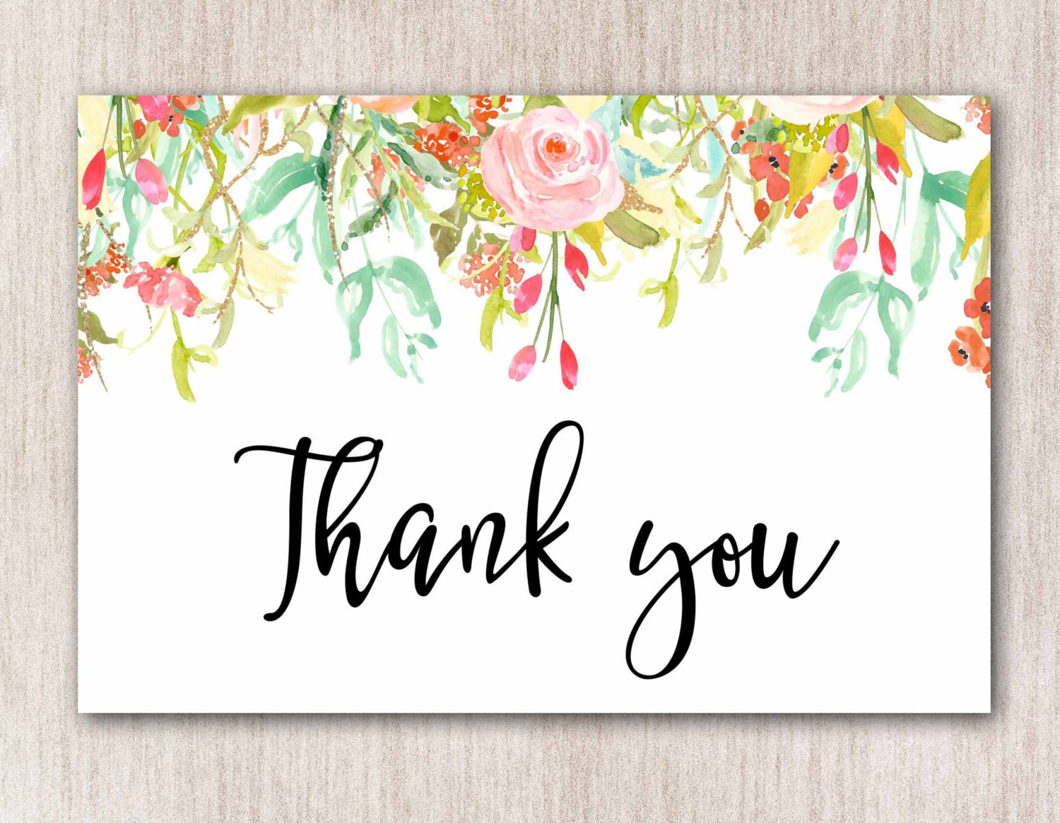 floral thank you card1