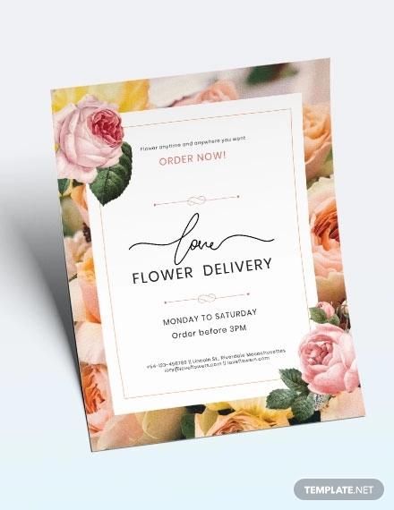 flower delivery service flyer
