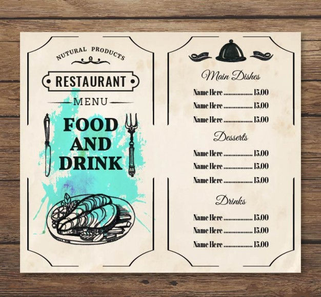 Food & Drink Menu Design