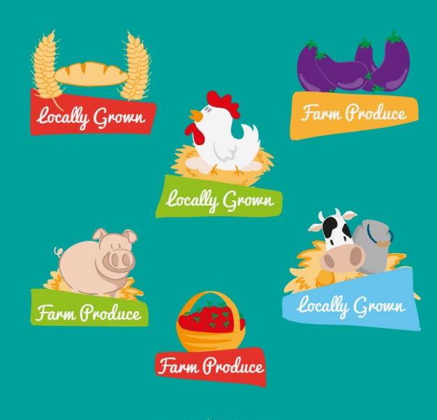food farm labels