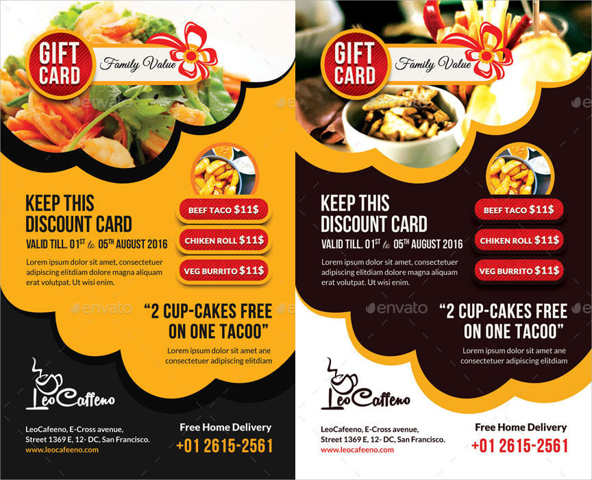 Food Gift Coupon Design
