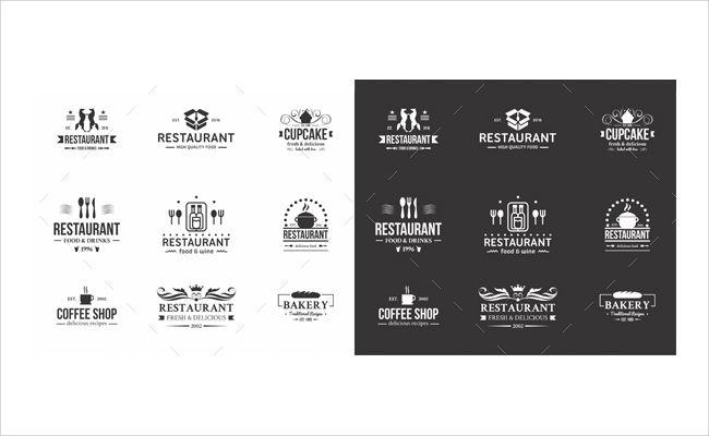 food logo badges labels
