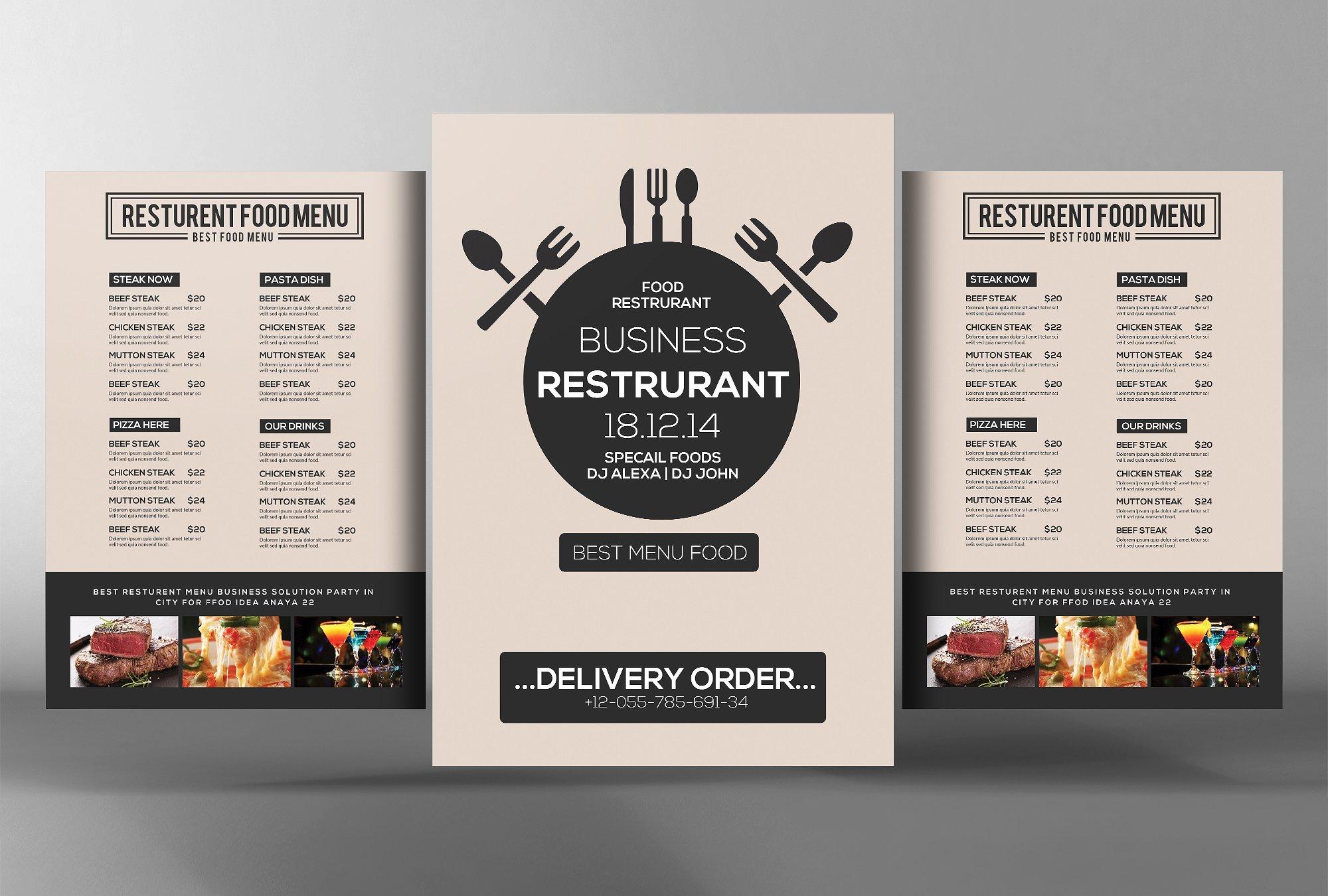 16  modern menu designs