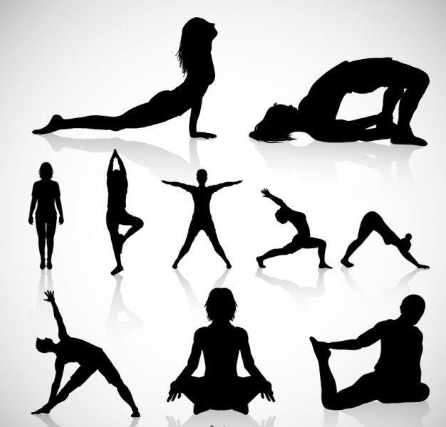 free vector yoga silhouette